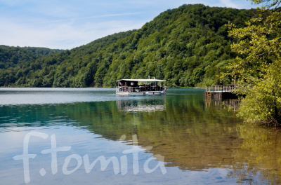 Bプリトビチェ湖群国立公園遊覧船(クロアチア、プリトビチェ).JPG
