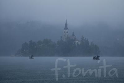 B雨のブレッド湖(スロベニア).jpg