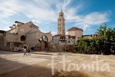 B1スプリット、ディオクレティアヌス宮殿(クロアチア)聖ドムニウス聖堂と鐘楼.JPG