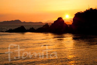大浦海岸夕陽